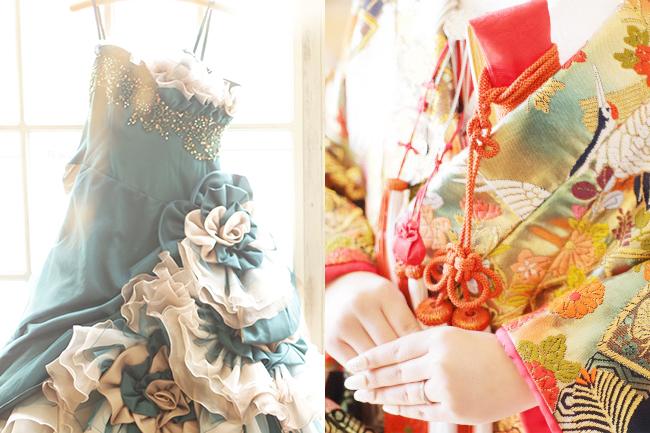和装・洋装どちらも撮影時の衣装「無料レンタル」
